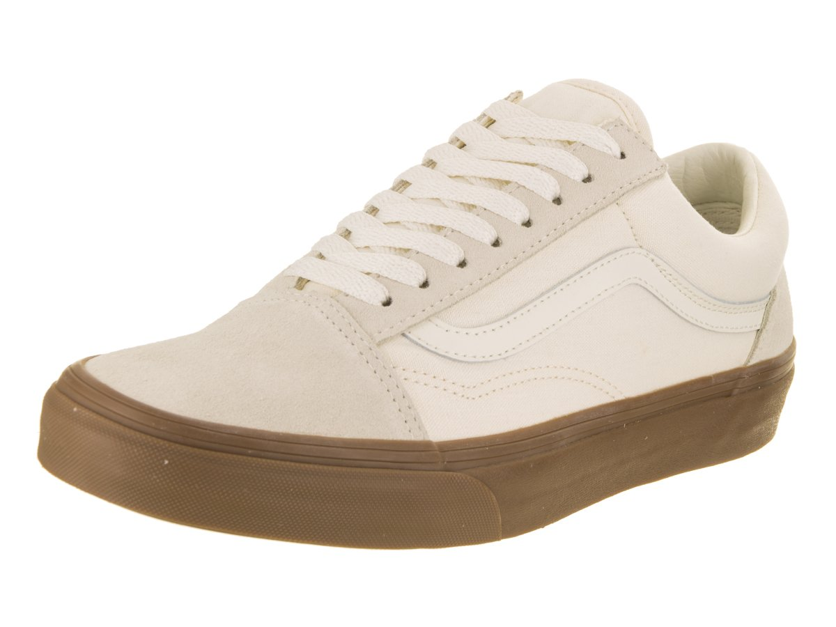 Vans Unisex Old Skool Classic Skate Shoes B06Y2KFK1S 12.5 Women / 11 Men M US|White/Gum