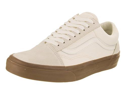 91b17cc1731cea Image Unavailable. Vans Unisex Old Skool (Suede Canvas) White Gum Skate  Shoe 7.5 Men