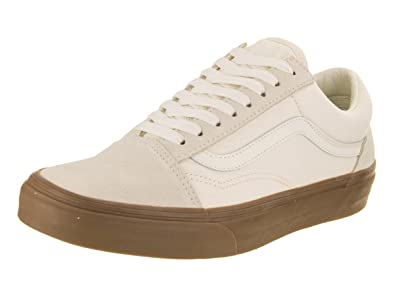 90e5272f1773 Vans Men s Old Skool Suede White Gum Ankle-High Canvas Skateboarding Shoe -  13M
