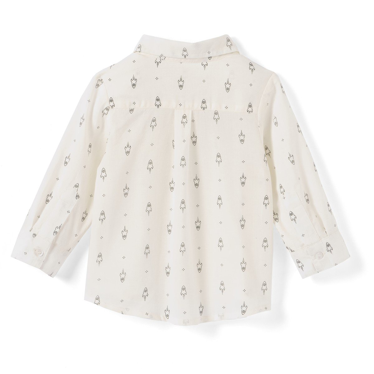 La Redoute Collections Big Boys Rocket Print Shirt 1 Mth-3 Years/&Nbsp;