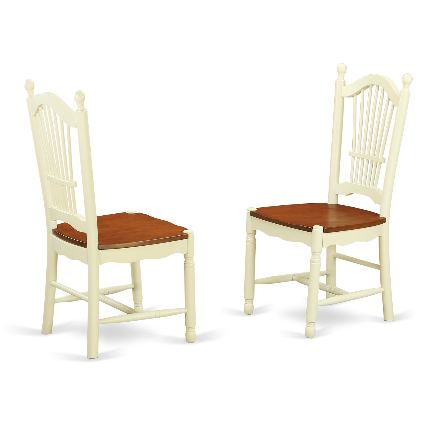 Amazoncom Doc Whi W Dover Dining Room Chairs With Wood Seat In