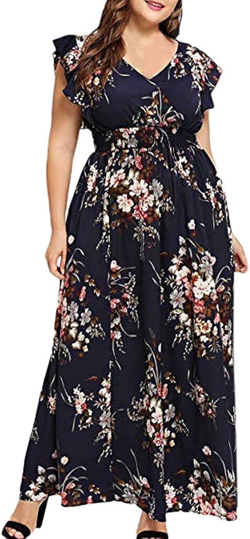 Women Sleeveless Mini Dress,FAPIZI New Summer Ladies Fashion Lace Boho Dress Sleeveless Floral Sling Deep V Dress