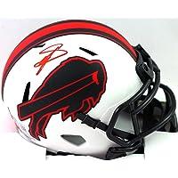 $165 » Stefon Diggs Autographed Buffalo Bills Lunar Speed Mini Helmet- Beckett W Red
