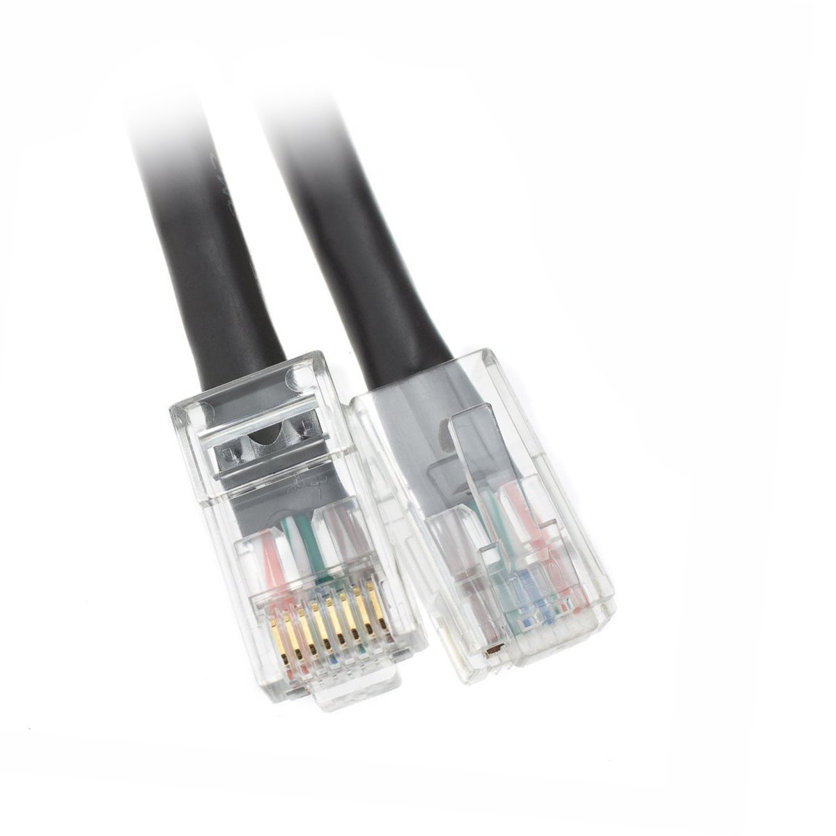 Acl 5 Feet Cat5e Rj45 Bootless Ethernet Lan Cable Black Patch Foot Part Number 10x6 Computers Accessories