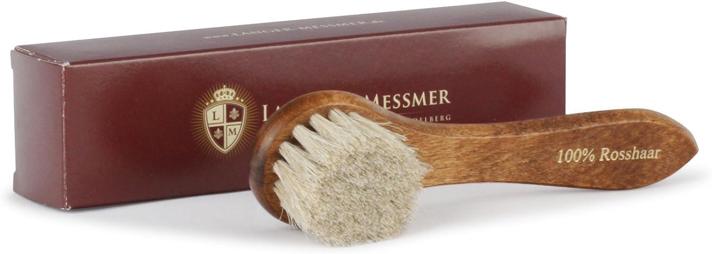 Langer /& Messmer set di 2 spazzole per stendere la crema sulle scarpe kit cura della scarpa professionale 100/% crine