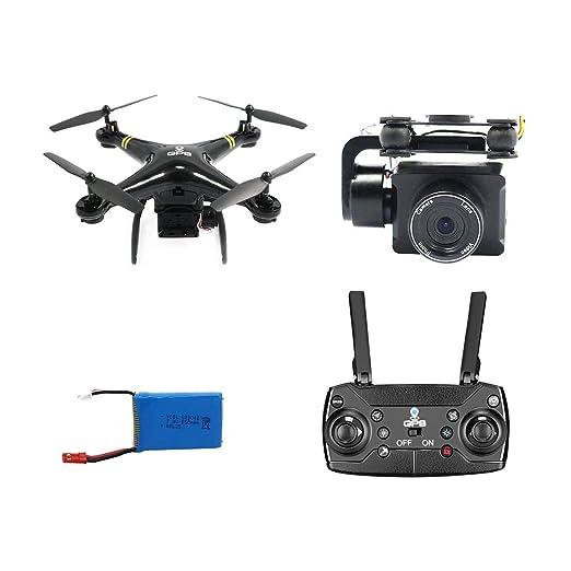 Kongqiabona GW168 RC Drone con cámara Gran Angular 1080P GPS ...