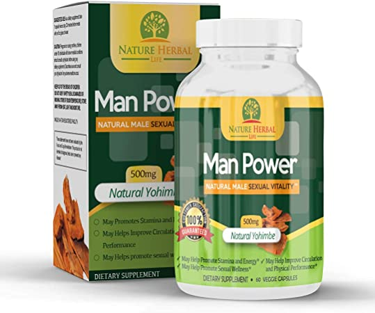Man Power Natural Supplement for Men – Energy Pills for Better Health, Stamina, Muscle Growth, Helps with Test Booster, Fat Burner, and Workout by Nature Herbal Life