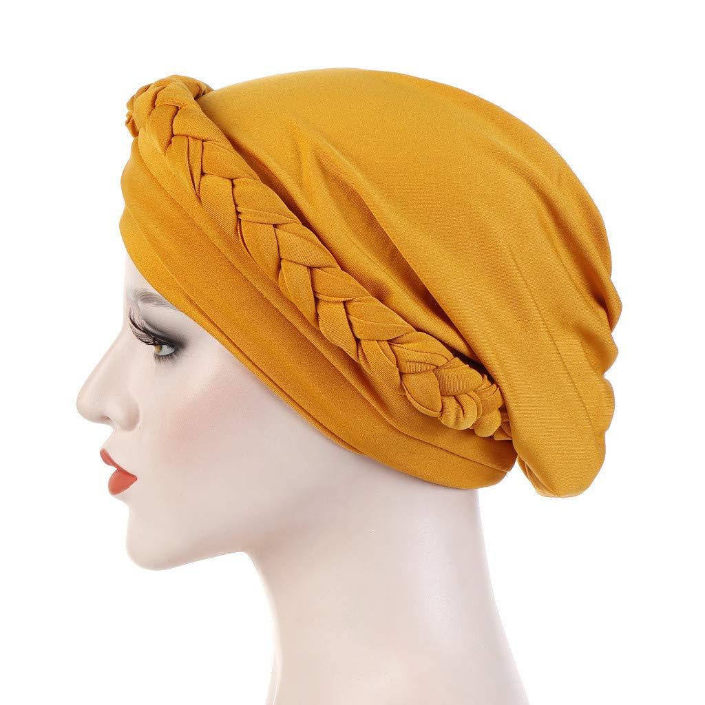 Chemo Auiyut Frauen Turban Muslimische Kopftuch Chemo Schlaf Kappe Perlen Indien Hut muslimischen R/üschen Krebs F/ür Haarverlust Krebs