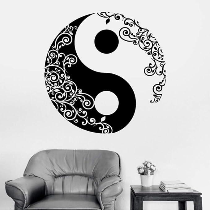 70X70cm Buda Yin Yang Yoga Floral Meditación Filosofía China ...