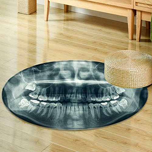 Round Area Rug Carpet Panoramic Dental x ray  Living Dining Room Bedroom Hallway Office Carpet -Round 24