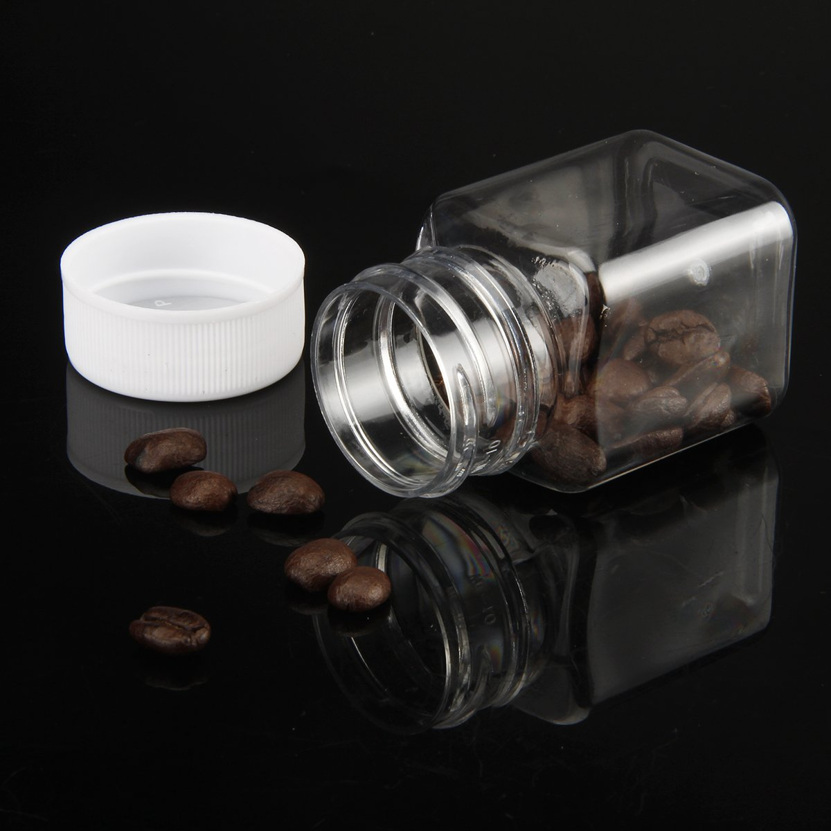 20pcs Eforstore Clear Plastic Bottles with Lids 60ml,20//50//100pcs Clear Empty Bottles Mini Clear Storage C