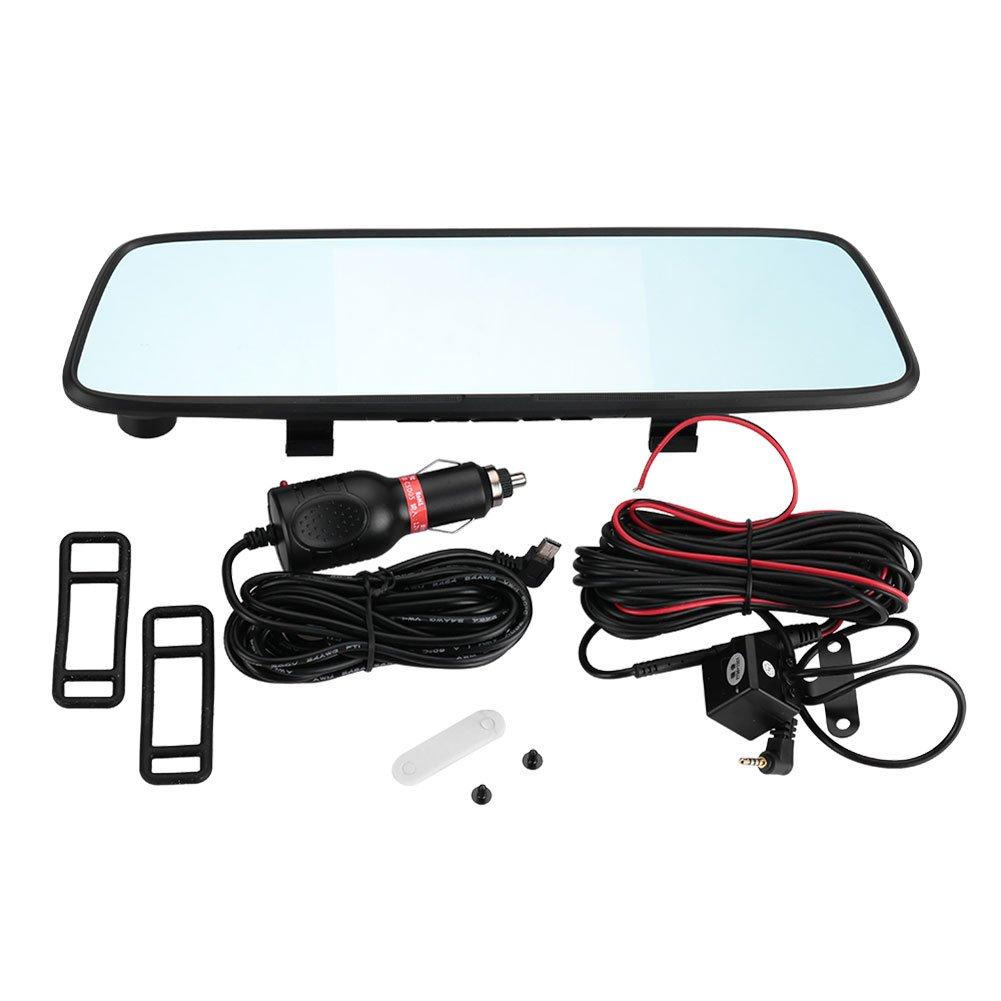 Leaftree DVR Dash Cam 140+90 Degrees Premium CMOS 1080P Parking Monitor Motion Detection Dual Lens Car G-Sensor