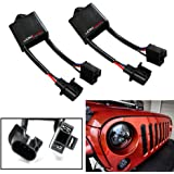"iJDMTOY (2) H4-To-H13 For Jeep Wrangler JK Anti-Flicker Decoders Fit Any 7"" Round LED Headlight Systems"