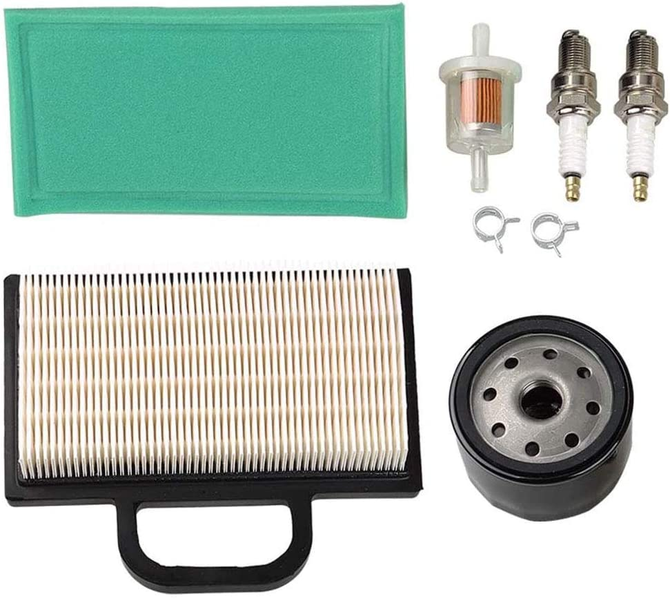 MOCW 691035 Fuel Filter 698754 273638 Air Filter 696854 Oil Filter Compatible with Briggs and Stratton Intek Extended Life Series V-Twin 18-26 HP Lawn Mower