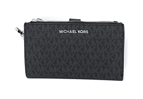 381ebefe67b9 Michael Kors Jet Set Double Zip Wristlet Black PVC: Handbags: Amazon.com