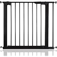 BabyDan Premier Bébé Barrière de Sécurité en pour Escalier Noir, Largeurs: 73,5cm - 119,3cm