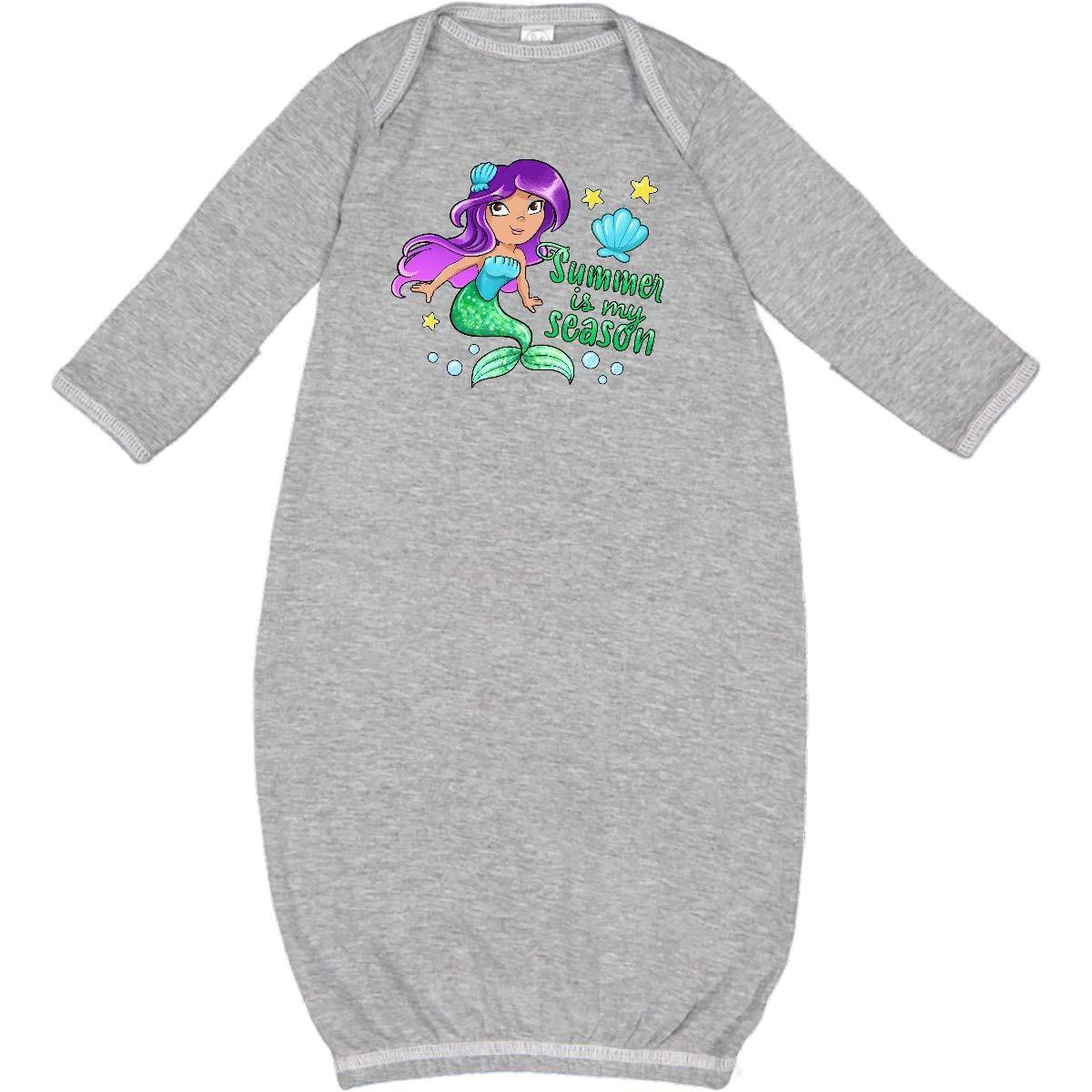 inktastic Summer is My Season Mermaid with Green Toddler Long Sleeve T-Shirt