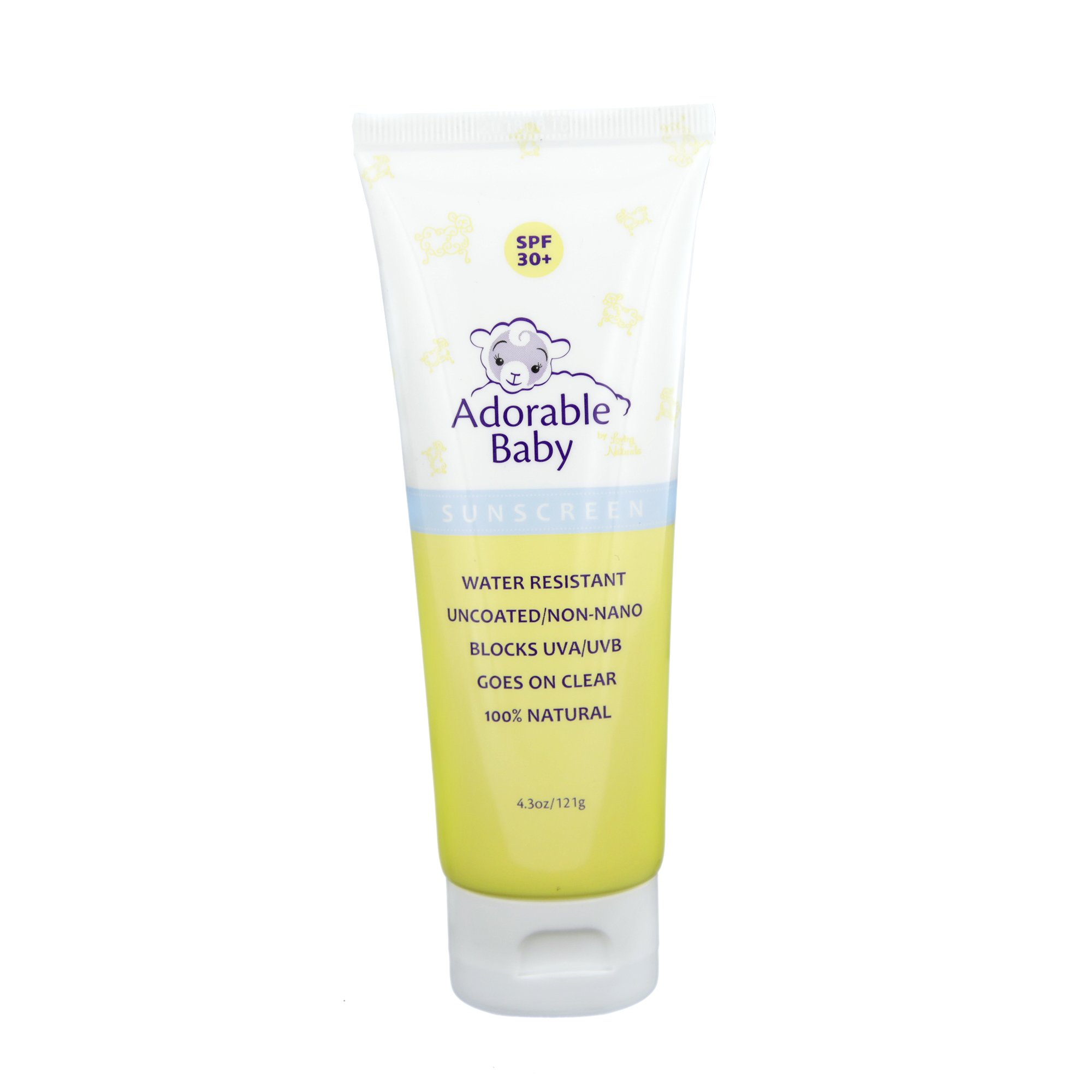 Adorable Baby All Natural Sunscreen SPF 30+ Non-Nano Zinc Oxide UVA/UVB 4.3oz By Loving Naturals
