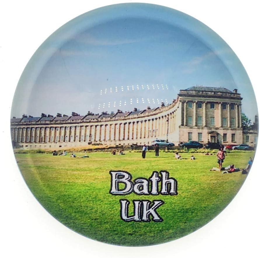Royal Crescent Bath UK Fridge Magnet 3D Crystal Glass Tourist City Travel Souvenir Collection Gift Strong Refrigerator Sticker