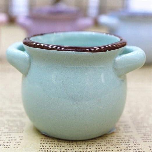 LEIXNDPLBO Mini Maceta de cerámica carnosa macarrones ...