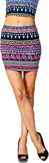 product image for Jubilee Couture Play Neon Elastic Waist Mini Skirt - Made in USA (X-Small)