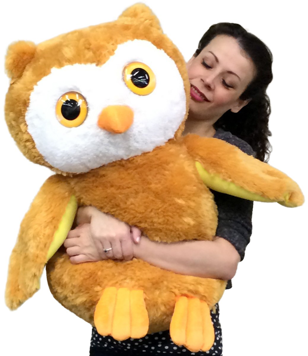 Amazon Com Big Plush Owl Over 2 Feet Tall 26 Inches Soft Large