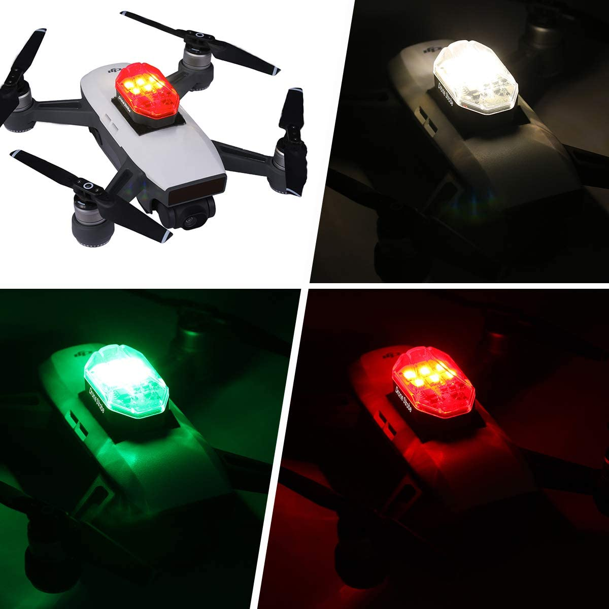 DR-01 ULANZI Drone Light for DJI Marvic 2 Pro Night Fly Visible RGB Drone Accessories 3 Mode Anti-Collision Strobe Lighting 250mAh Rechargeable