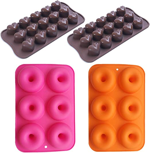 6-cavity Donuts Soap Mold Cake Mold Silicone Mould Flexible For Candy Chocolate