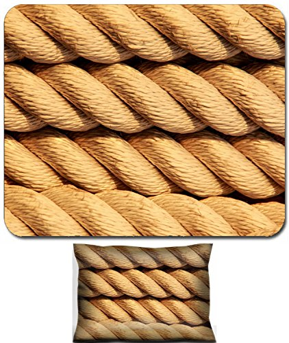 Luxlady Mouse Wrist Rest and Small Mousepad Set, 2pc Wrist Support design IMAGE: 26028882 Nautical rope in spiral