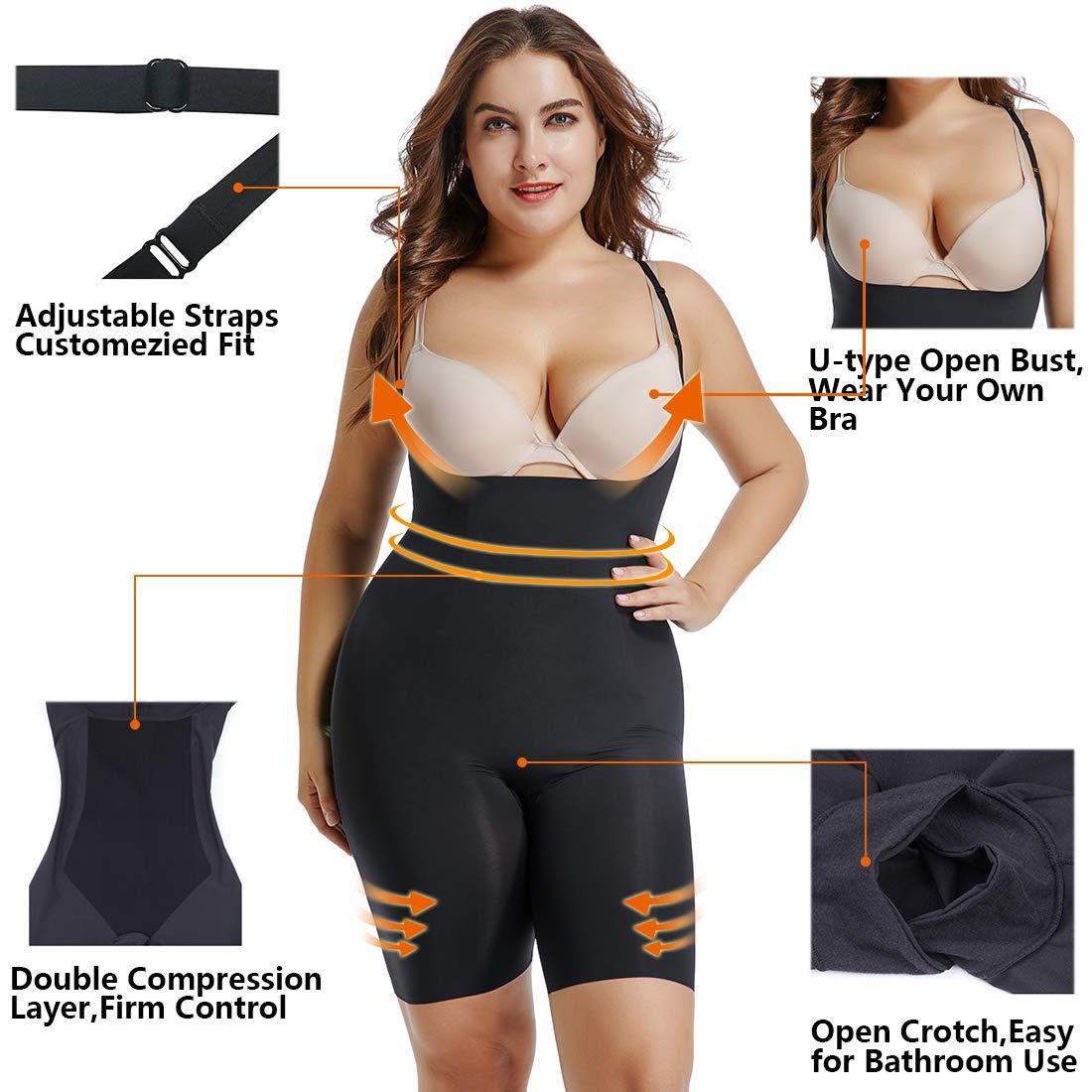 Amazon.com: Shapewear - Body para mujer, diseño de pecho ...