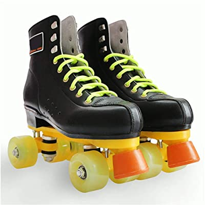 Roller Skates Double-Row Quad Roller Shoes PU Wheels with Breathable Mesh for Beginners Children Boys Girls, Black : Sports & Outdoors