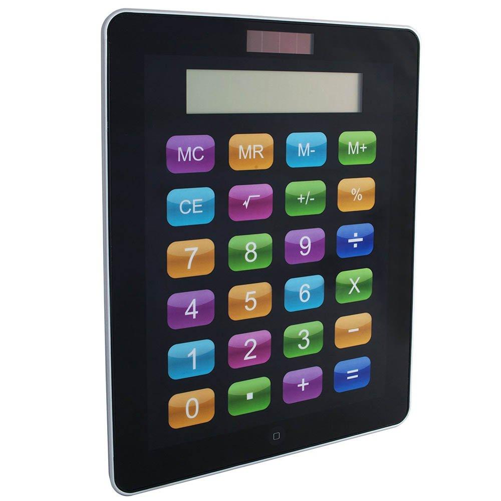 Vetrineinrete® Calcolatrice solare touch screen a forma di Ipad 8 cifre tasti grandi e colorati formato gigante E26