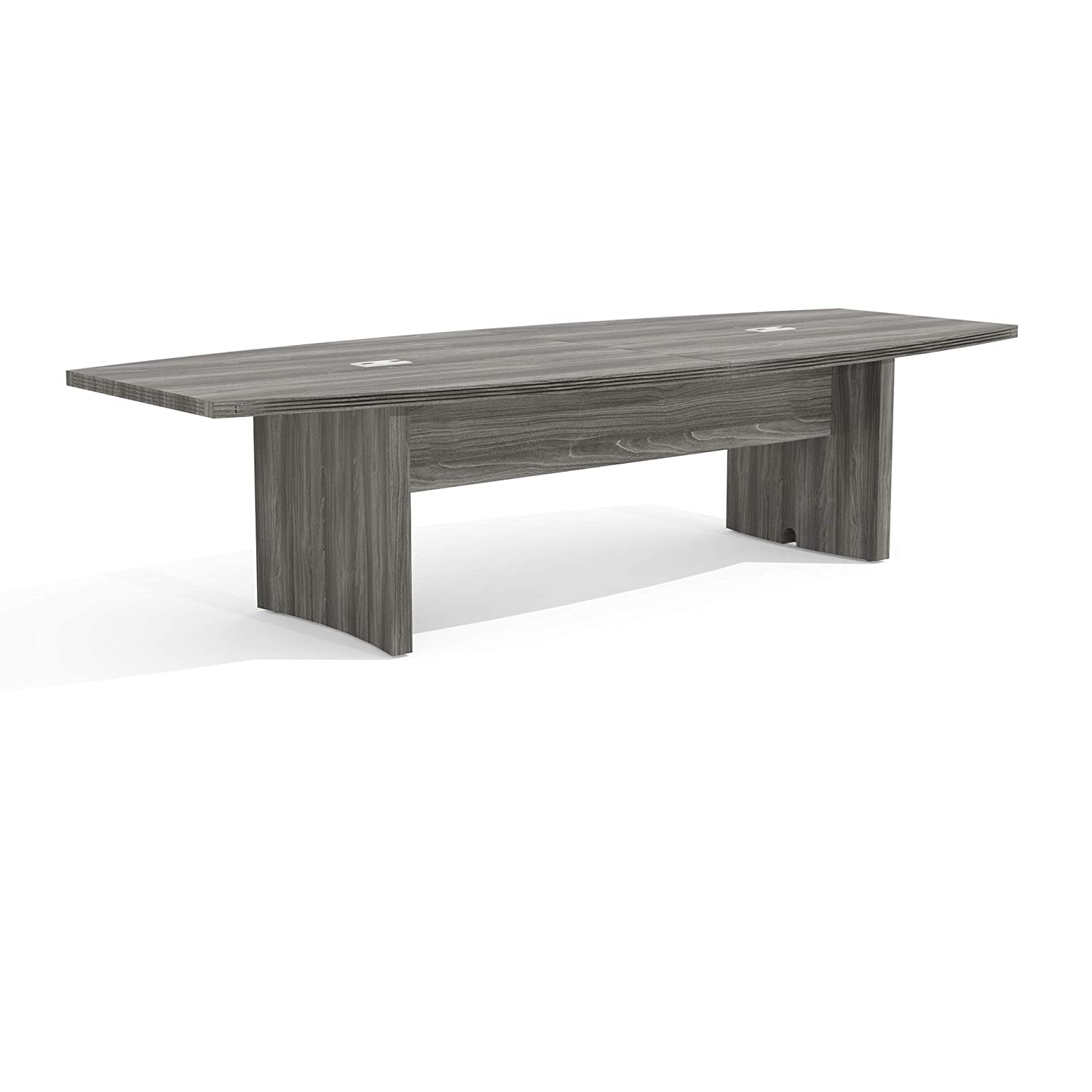 Mayline Aberdeen 10 Boat Shape Conference Table, Gray Steel Tf