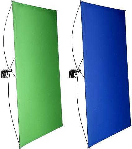 Todo para el streamer: Neewer 90x180cm Pantalla de Fondo Azul/Verde Chromakey 2 en 1 Portátil con 4 Varillas Flexibles Soporte Bolsa Transporte para Transmisión en Vivo Estudio y Videos TikTok Youtube(Soporte No Incluido)