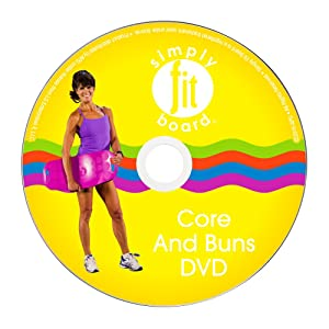 Simply Fit Board - Core & Buns Workout Kit, 6 Workouts That are Great for Getting Those 6 Pack Abs & Tighter Buns