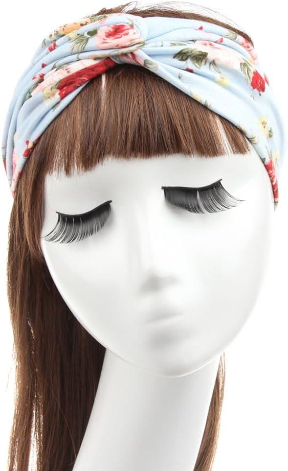 TININNA Damen Frauen B/öhmen Blumen Verdreht Yoga Sport Elastisch Stirnb/änder Stirnband Kopfband Haarband Turban Haar Bande Headwrap Haarschmuck schwarz EINWEG Verpackung