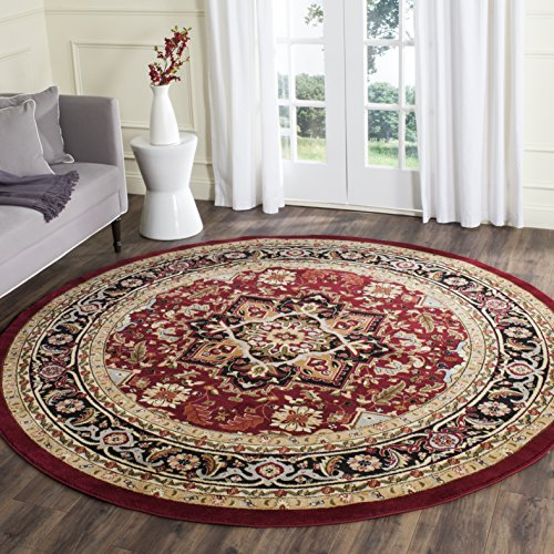 - Safavieh Lyndhurst Collection LNH330B Traditional Oriental Medallion Red and Black Round Area Rug (8' Diameter)