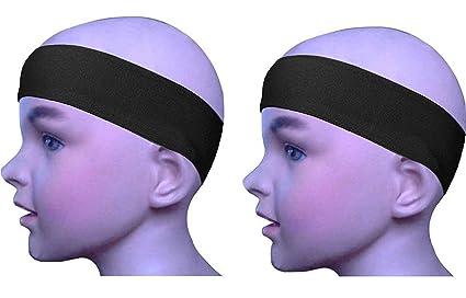 Amazon.com   GoYonder Solid Sport Sweatbands for Kids 2 Black ... 18d6b0085c18