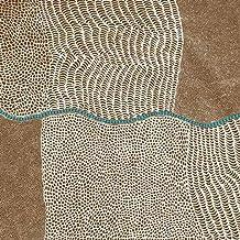Australian Aboriginal fabric, Bush Onion Dreaming Brown by Jane Hudson