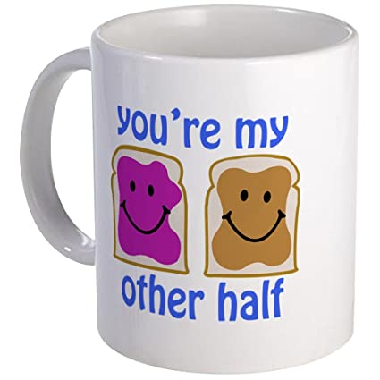 Amazon.com: CafePress - You\'re My Other Half Mug - Unique Coffee Mug ...