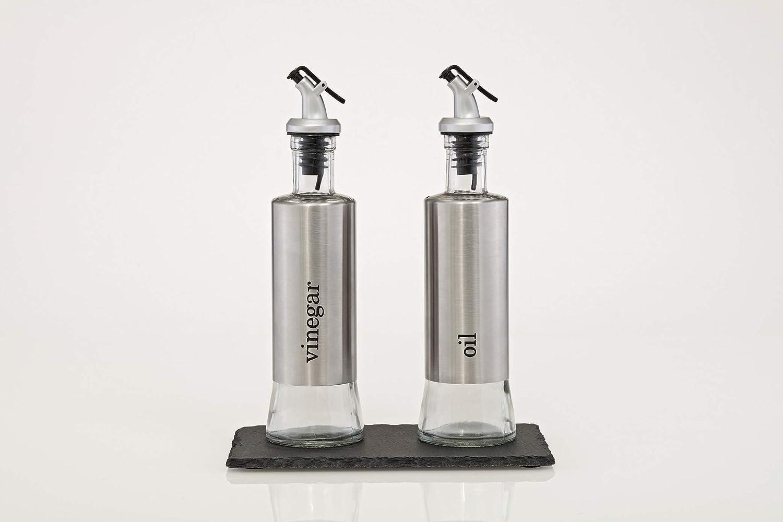 /Öl und Essig Spender Schieferplatte ALS Untersetzer 280 ml