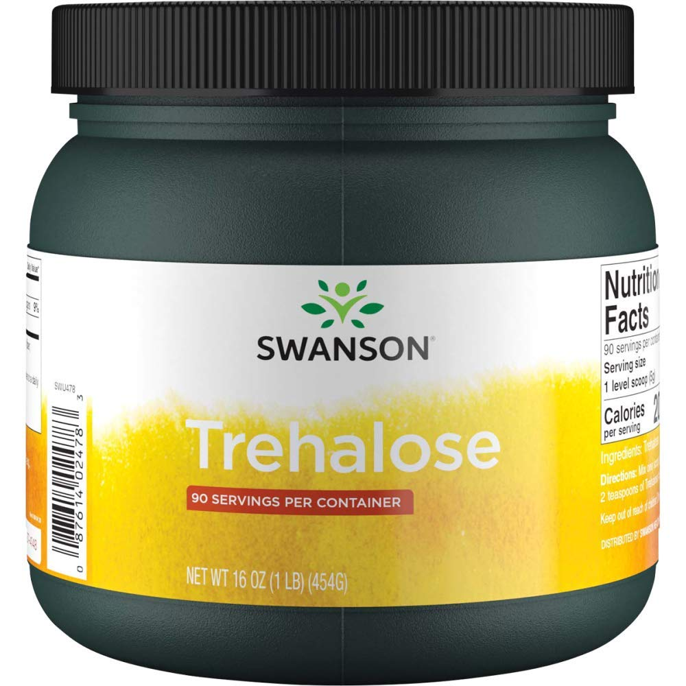 Swanson 100% Pure Trehalose 16 Ounce (1 lb) (454 g) Pwdr