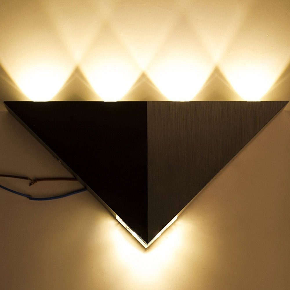Ruanyi Wall Lamp Aluminum Triangle High Power Led Modern Home Lighting Indoor Outdoor Party Led Light LED lighting (Color : Warm White)