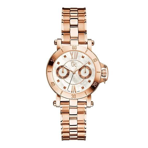 GC RELOJ DE MUJER CUARZO CORREA Y CAJA DE ACERO COLOR ORO ROSADO X74008L1S: Guess Collection: Amazon.es: Relojes