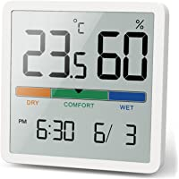 NOKLEAD Hygrometer Indoor Thermometer, Desktop Digital Thermometer with Temperature and Humidity Monitor, Accurate…