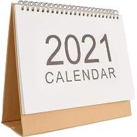 KESYOO Desk Calendar 2021 Desktop Standing Calendar Flip Monthly Calendar Organizing Daily Scheduler Planner for Home…