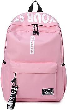 Amazon Com Dinashion Canvas School Backpack Boys Girls Teenager