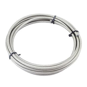 Gazechimp Cable de Cambio para Bicicletas Carretera MTB Estructura Espiral Capa de Plástico Duradero - Plata