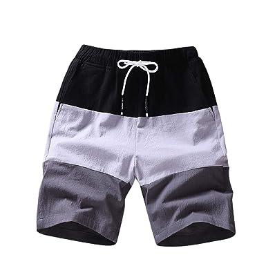 Kaiyei Pantalones Cortos Sueltos para Hombres Pantalones Cortos ...