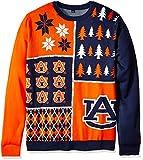 Klew NCAA Busy Block Sweater, XX-Large, Auburn Tigers